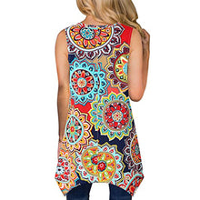 Tammy-Printed Sleeveless Asymmetrical