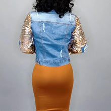'Fa-Shon Glitz & Gold Denim Jacket