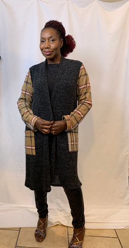 Noel-Inspired Open face Cardigan
