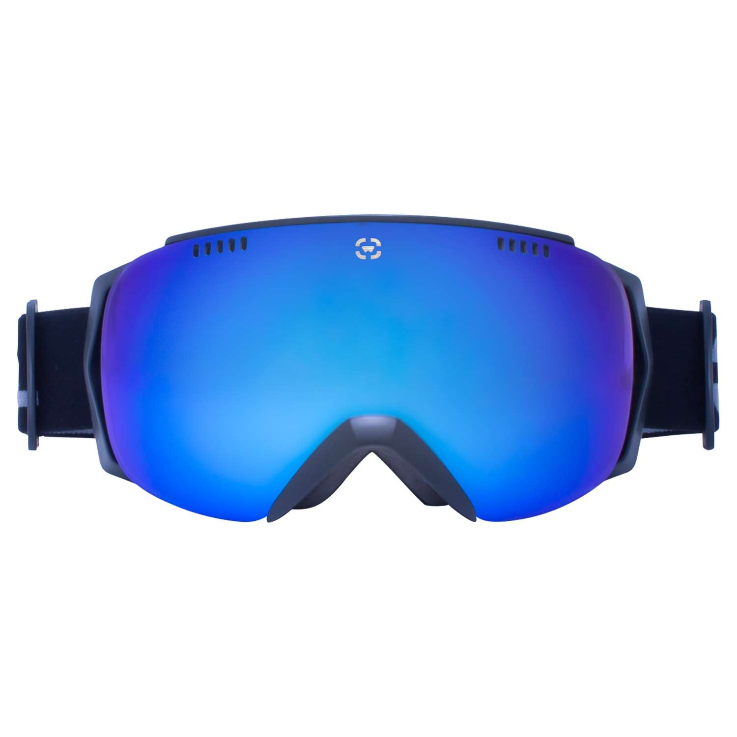 blue snowboard goggles u9ie  snowboard goggles with black frames and blue lenses
