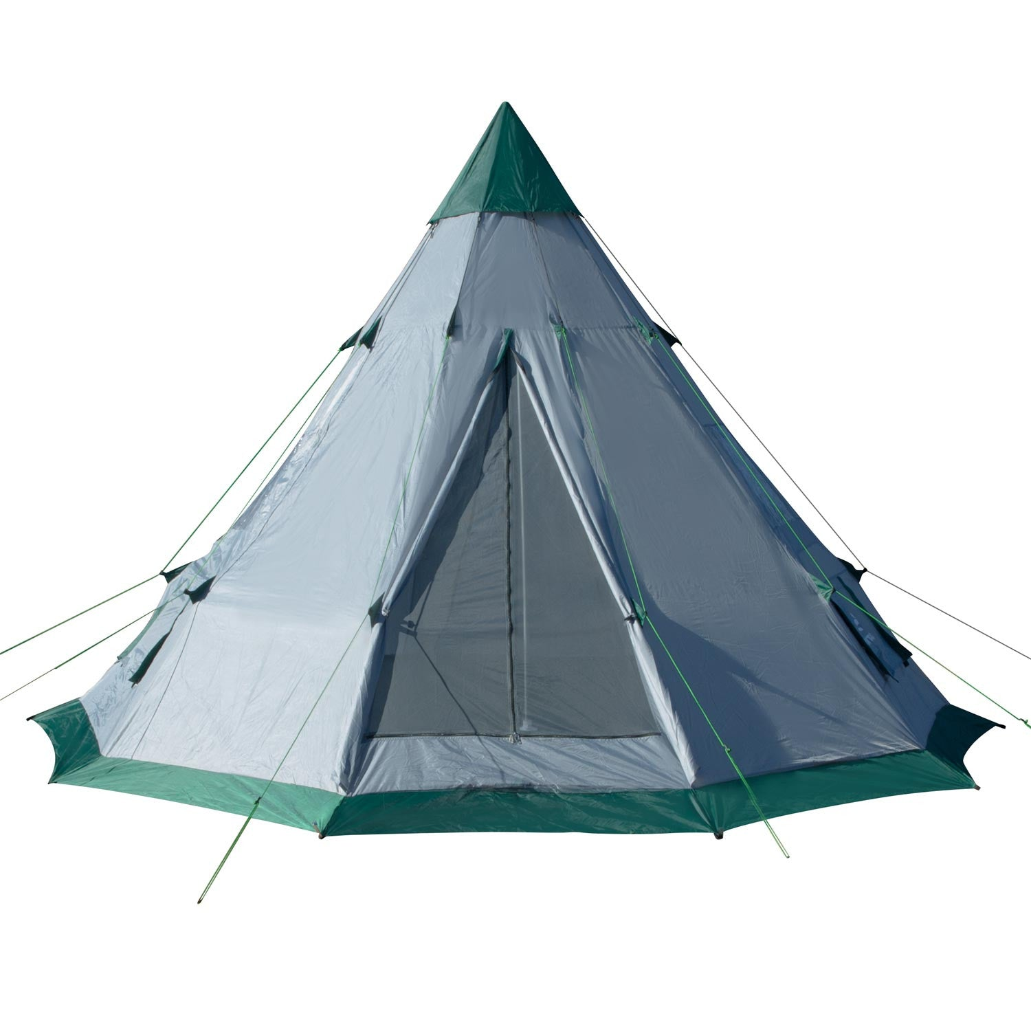 ... teepee tent family tent for c&ing  sc 1 st  Winterial.com & 12-foot Diameter 7-Person Family Camping Teepee Tent - Winterial.com