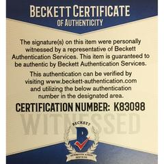 Beckett Certificate of Authenticity