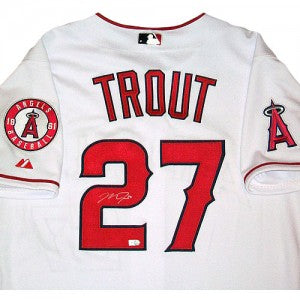 Mike Trout Autographed Angels Jersey
