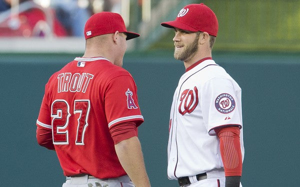 Mike Trout and Bryce Harper New Contracts - How Does it Affect Their Autograph Market?