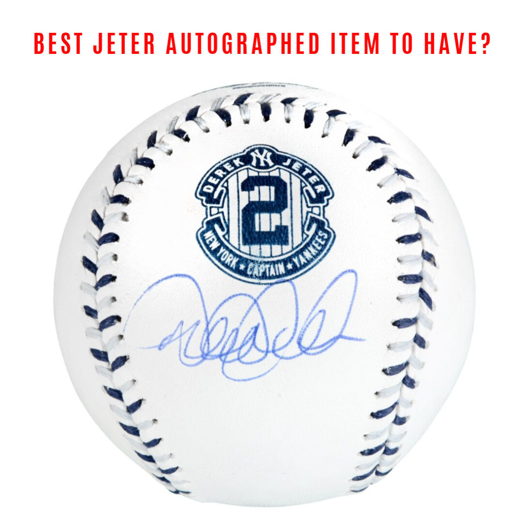 Derek Jeter Autographed Memorabilia - What to get now and once he gets into Hall of Fame