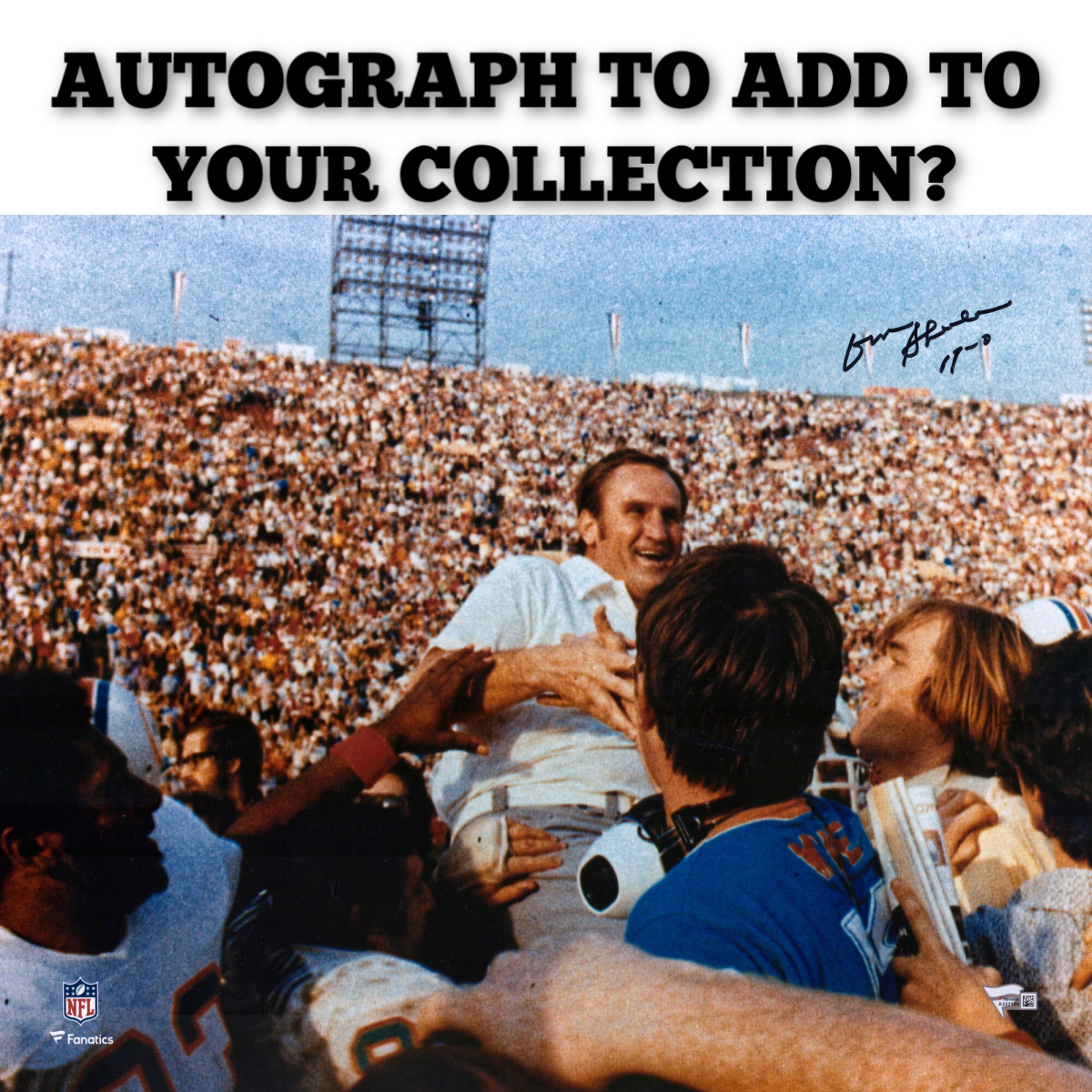 Don Shula Autograph - one to add to your collection?