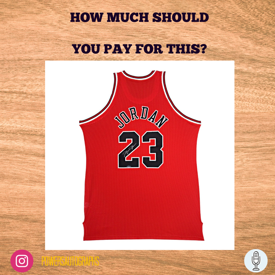 Michael Jordan Autographed Chicago Bulls Jersey - What Should You Pay?