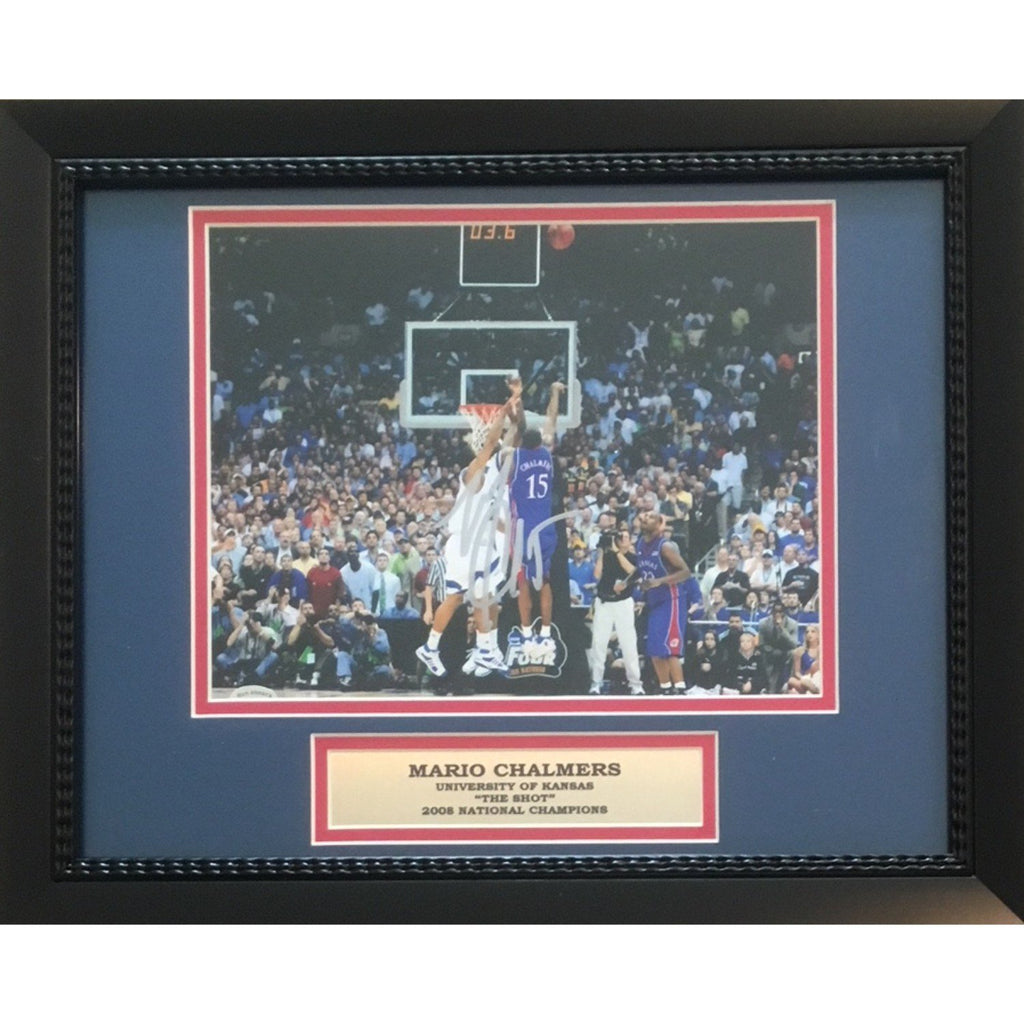 Mario Chalmers Autographed Kansas Photo