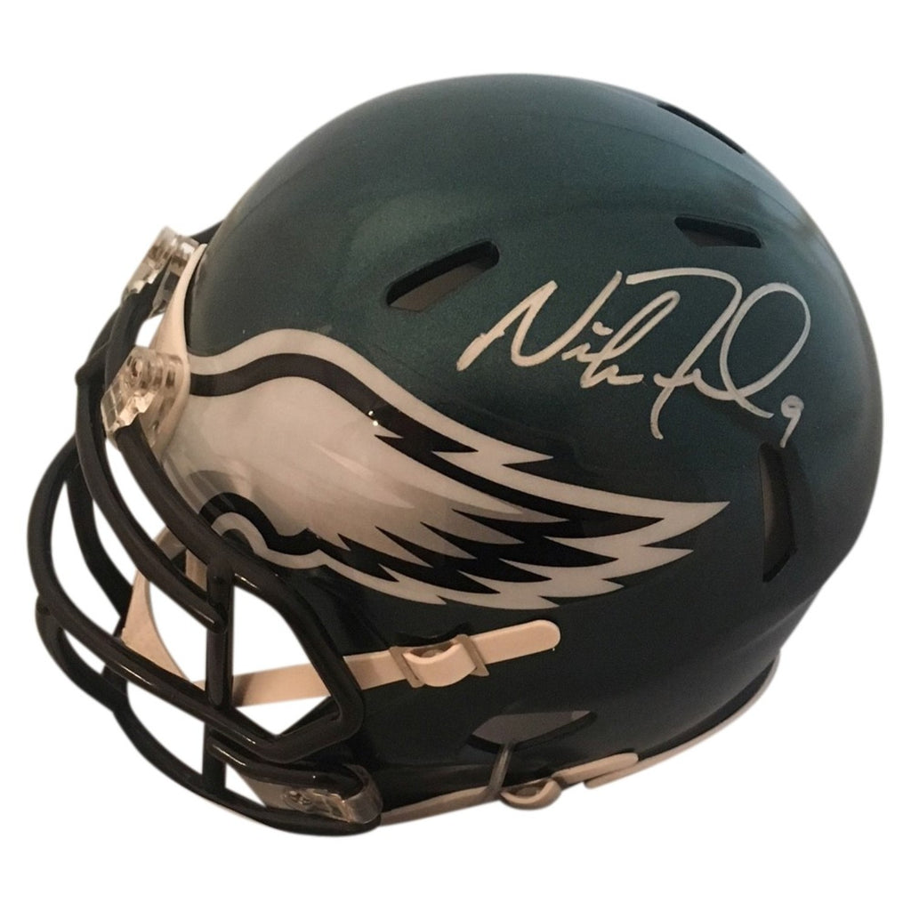 Nick Foles Autographed Eagles Mini Helmet - Powers Sports Memorabilia
