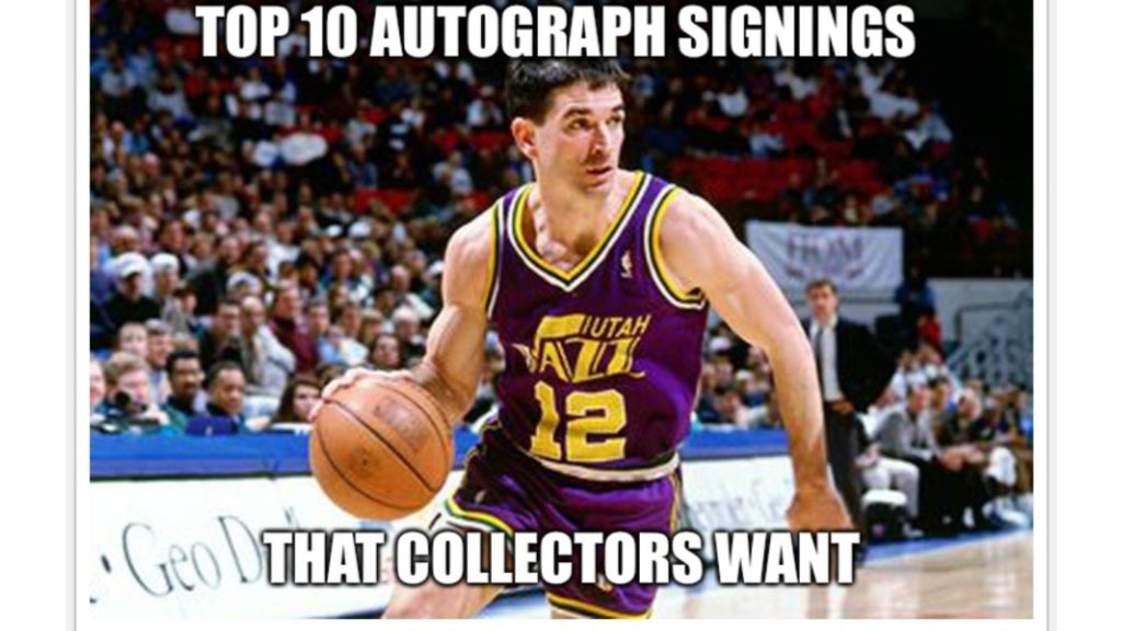 Top 10 Autograph Signings Collectors Want