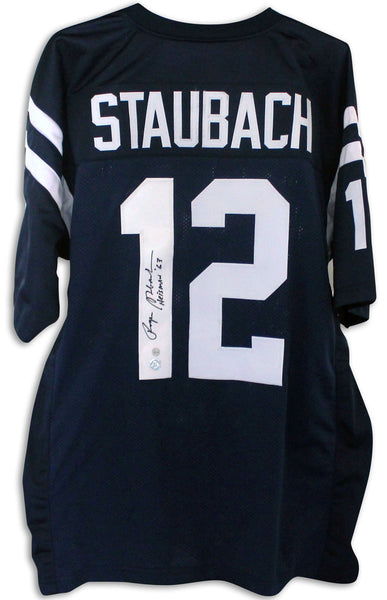 Roger Staubach Autographed Navy Heisman Trophy Jersey