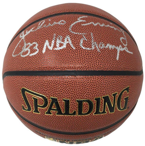 Dr J 83 NBA Champions Signed Basketball