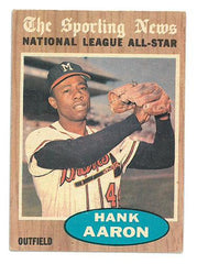 Hank Aaron Topps Baseball Card