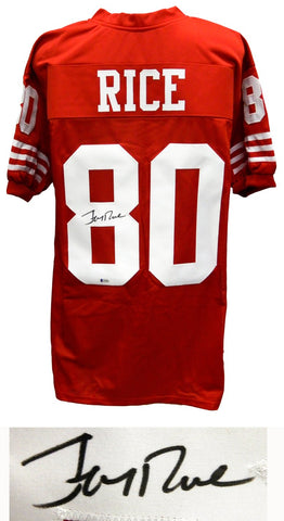 Jerry Rice Signed San Francisco 49ers Sports Memorabilia