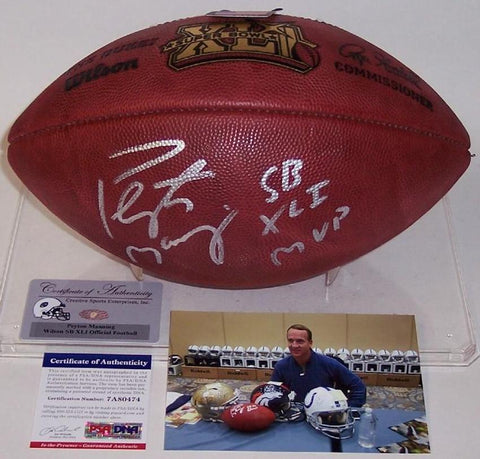 Peyton Manning Signed Super Bowl 41 Football