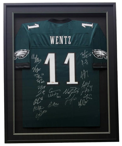 Team Signed Super Bowl 52 Wentz Jersey