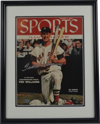 Ted Williams Signed Sports Illustrated Memorabilia