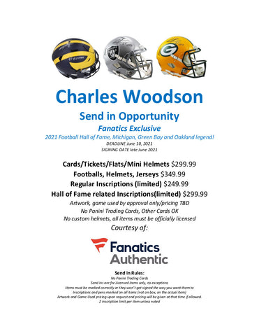 charles woodson autograph signing