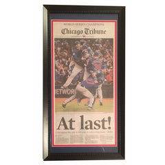 Chicago Cubs 2016 World Series Framed Newspaper
