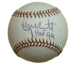 George Brett Autographed Hall of Fame Baseball - Powers Sports Memorabilia