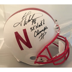 Grant Wistrom Signed Nebraska Helmet - Powers Sports Memorabilia