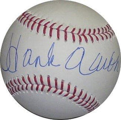 Hank Aaron Autographed Baseball - Powers Sports Memorabilia