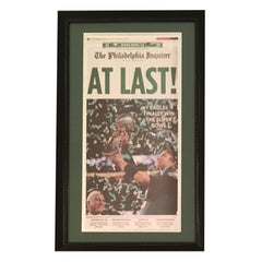 Philadelphia Eagles Super Bowl Framed Inquirer Newspaper