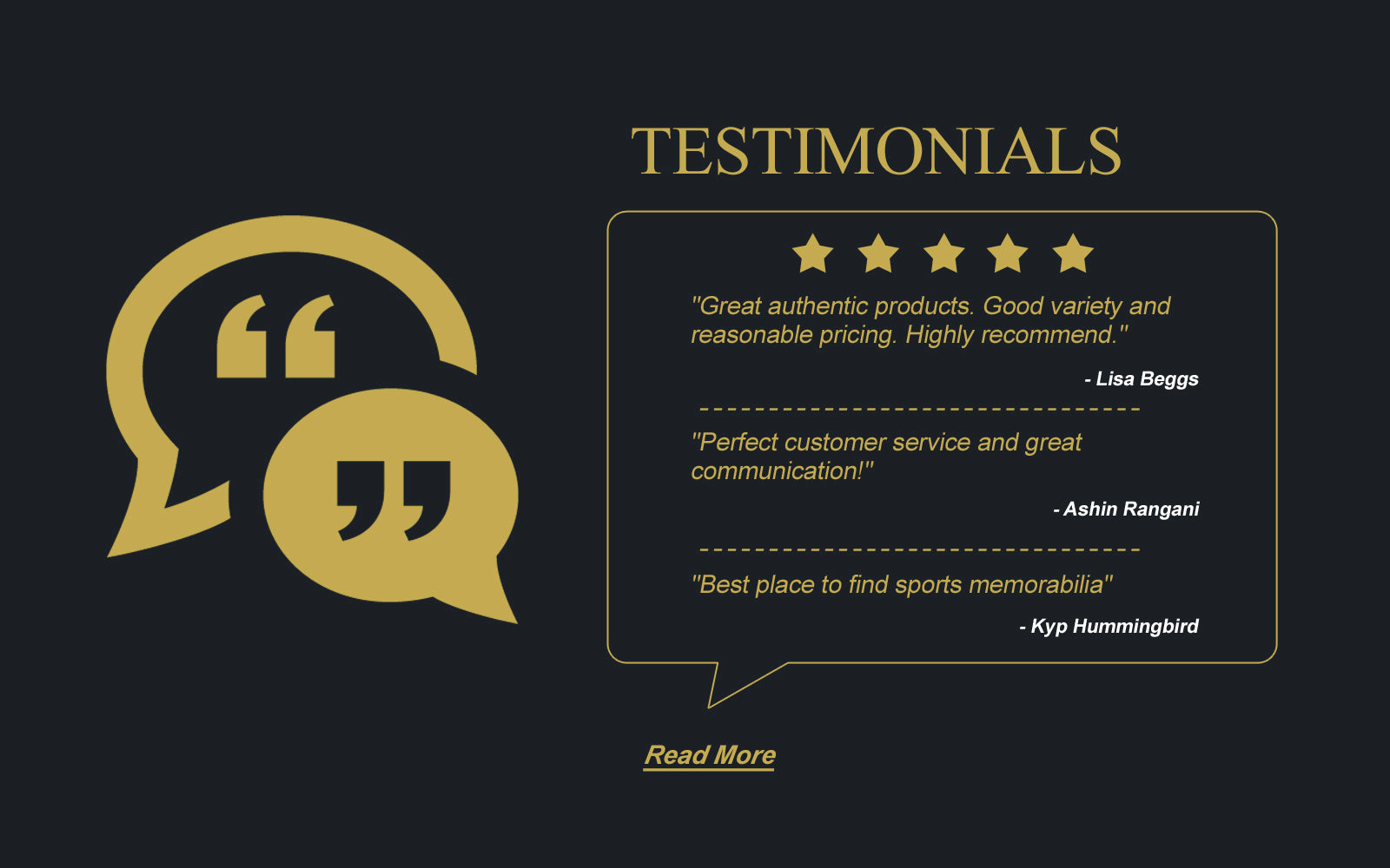Powers Sports Memorabilia Reviews Testimonials