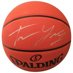 Trae Young Autographed Basketball