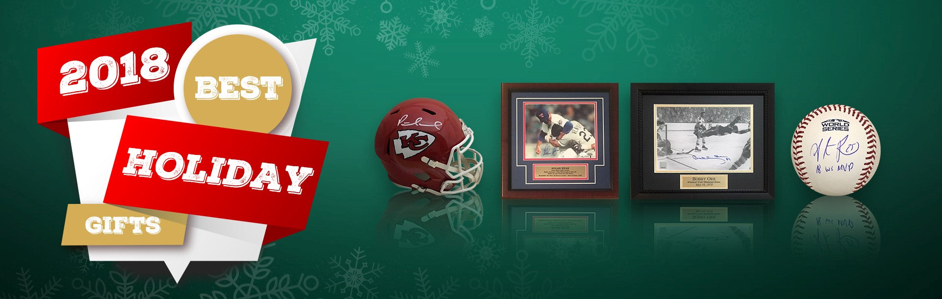 2018 Best Holiday Autographed Sports Memorabilia Gifts