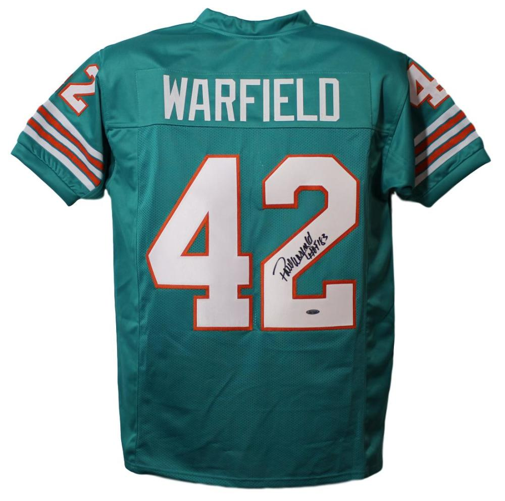 Paul Warfield Autographed Miami Dolphins Teal XL Jersey HOF Tristar PSM-Powers Sports Memorabilia