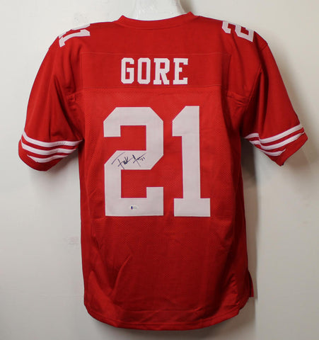 Frank Gore Autographed San Francisco 49ers Red XL Jersey BAS PSM-Powers Sports Memorabilia