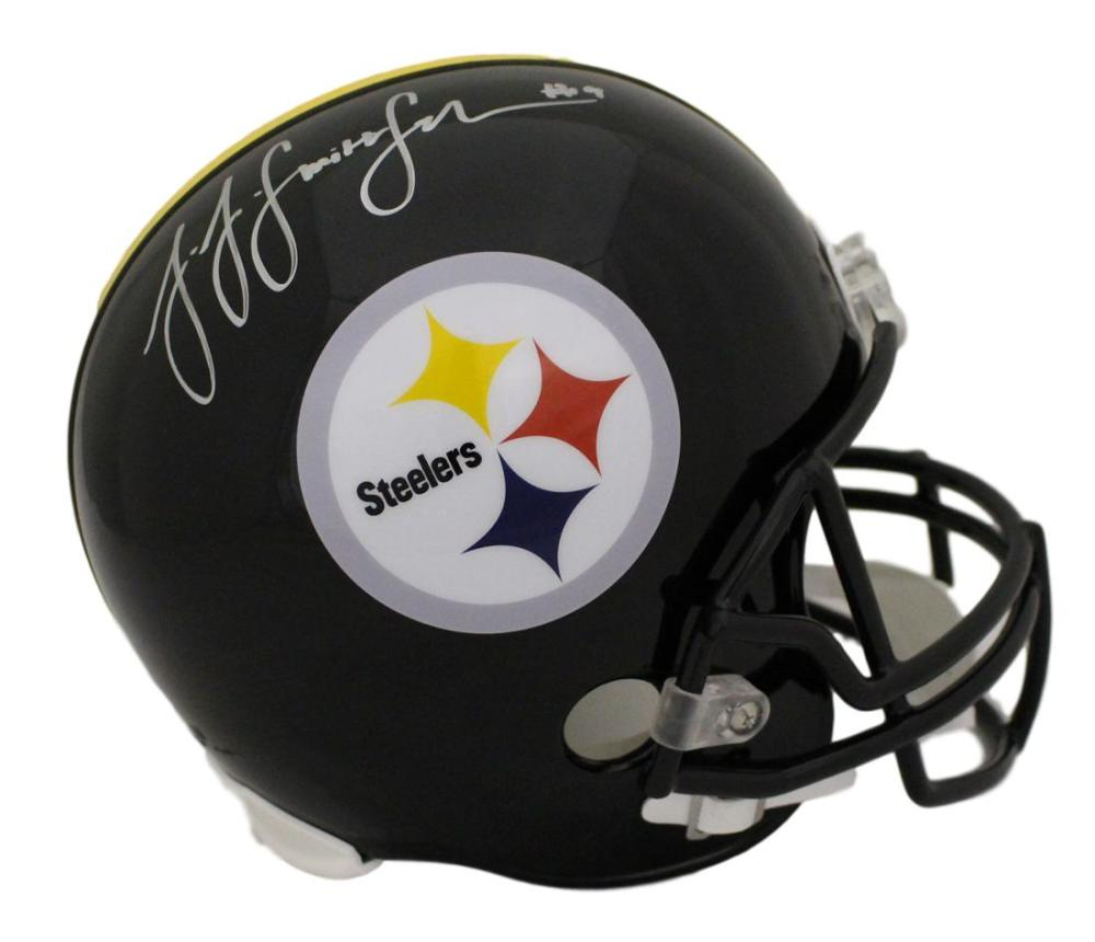 015c183757c JuJu Smith Schuster Autographed Pittsburgh Steelers Replica Helmet BAS  PSM-Powers Sports Memorabilia