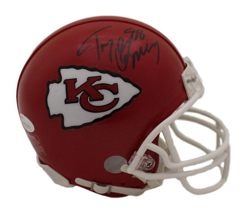 Tony Gonzalez Autographed Kansas City Chiefs Mini Helmet JSA PSM-Powers Sports Memorabilia