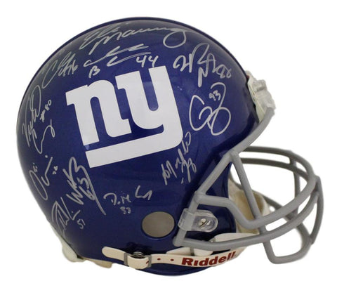2011 New York Giants Team Autographed Proline Helmet 26 Sigs Steiner JSA PSM-Powers Sports Memorabilia