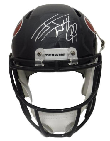 JJ Watt Autographed Houston Texans Full Size Replica Speed Helmet JSA PSM-Powers Sports Memorabilia