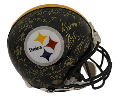 Pittsburgh Steelers Super Bowl XL Autographed Proline Helmet 28 Sigs BAS PSM-Powers Sports Memorabilia