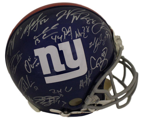 2011 New York Giants Team Autographed Proline Helmet 24 Sigs BAS PSM-Powers Sports Memorabilia
