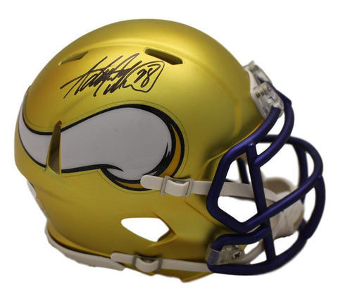 Adrian Peterson Autographed Minnesota Vikings Blaze Mini Helmet JSA PSM-Powers Sports Memorabilia