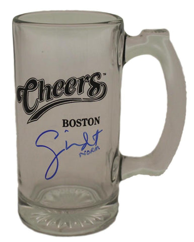 "George Wendt Autographed ""Cheers"" Glass Beer Mug Norm BAS PSM-Powers Sports Memorabilia"