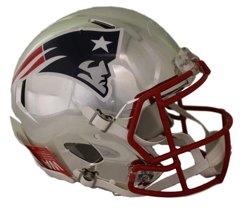 Tom Brady Autographed New England Patriots Chrome Proline Helmet Tristar PSM-Powers Sports Memorabilia