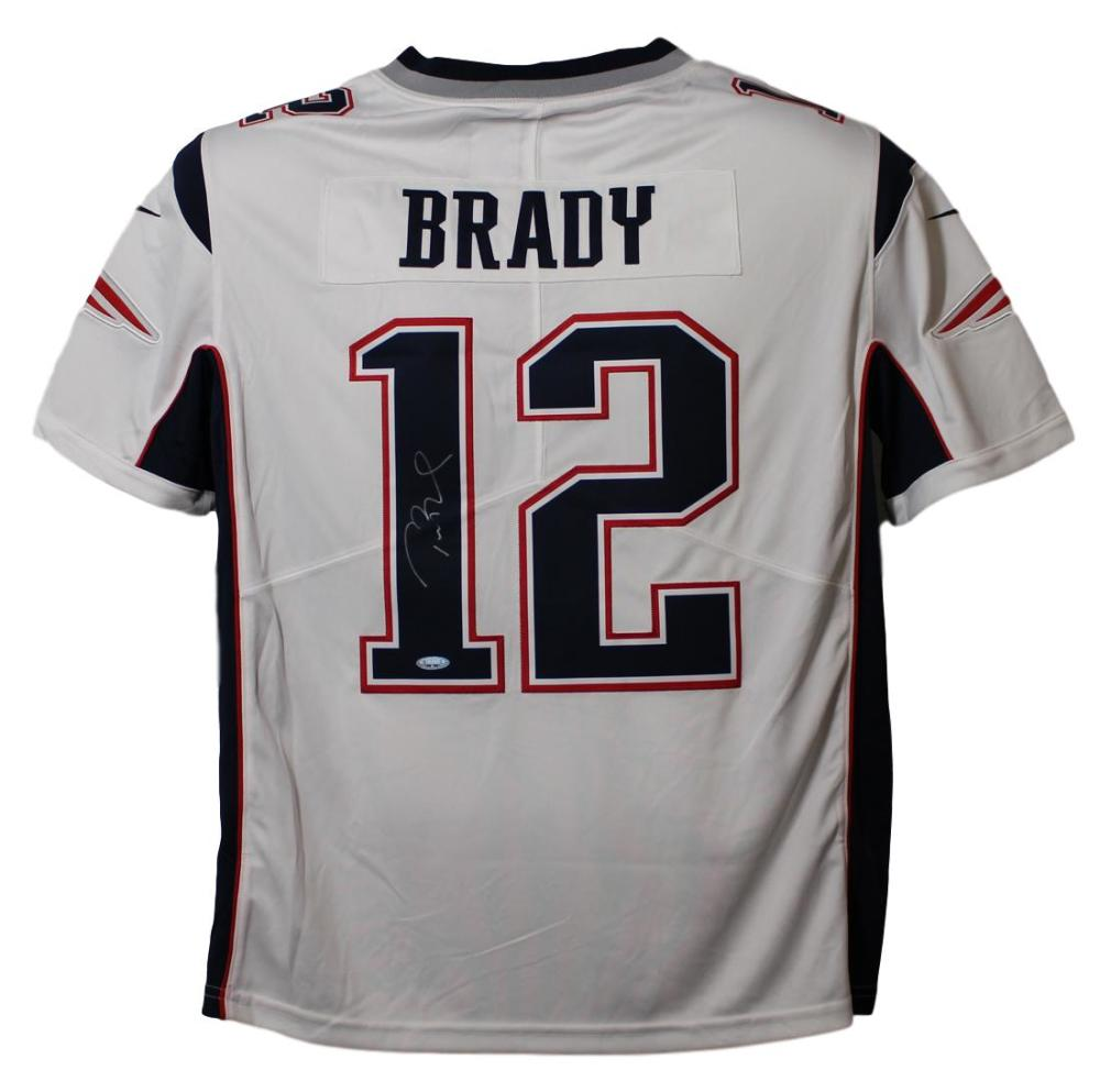 e6e152a1682 Tom Brady Autographed New England Patriots Limited White XL Jersey Tristar  PSM-Powers Sports Memorabilia