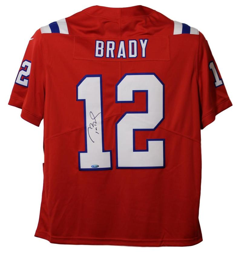 promo code 0ffd7 f00dd Tom Brady Autographed New England Patriots Limited Red XL Jersey Tristar PSM
