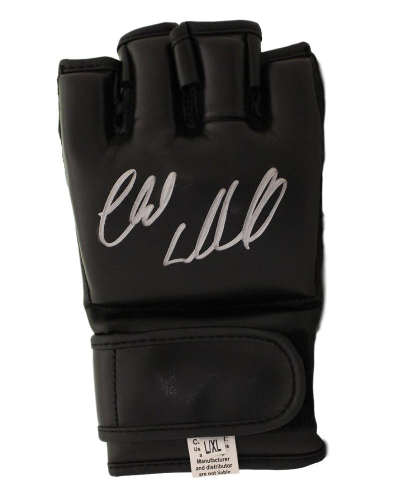 Chuck Liddell Autographed UFC Black Right Handed Glove BAS PSM-Powers Sports Memorabilia