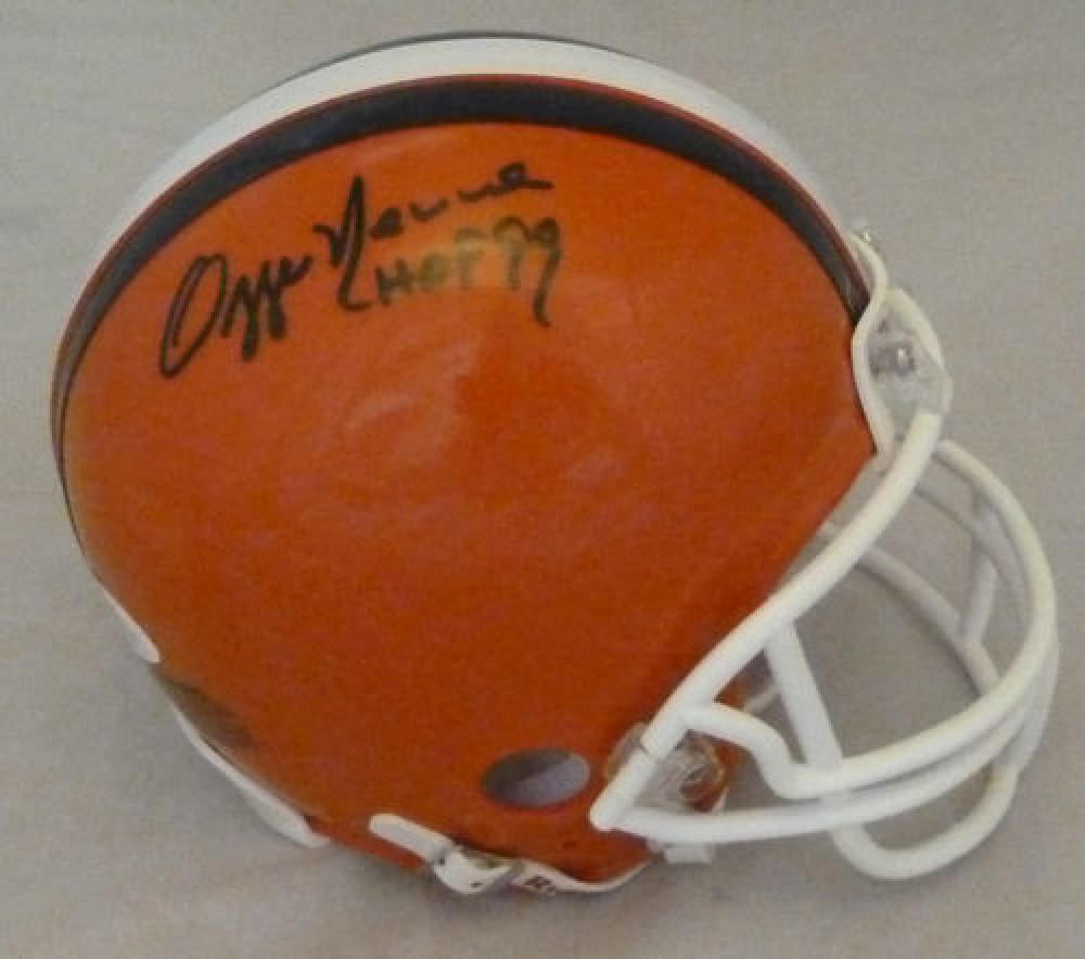 Ozzie Newsome Autographed Cleveland Browns Mini Helmet HOF BAS PSM-Powers Sports Memorabilia