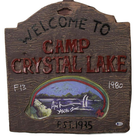 Ari Lehman Autographed Friday The 13th Camp Crystal Lake Sign Jason 1 BAS PSM-Powers Sports Memorabilia