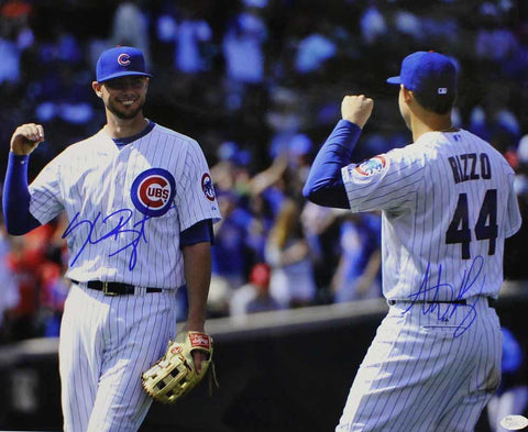 Kris Bryant & Anthony Rizzo Autographed Chicago Cubs 16x20 Photo JSA PSM-Powers Sports Memorabilia
