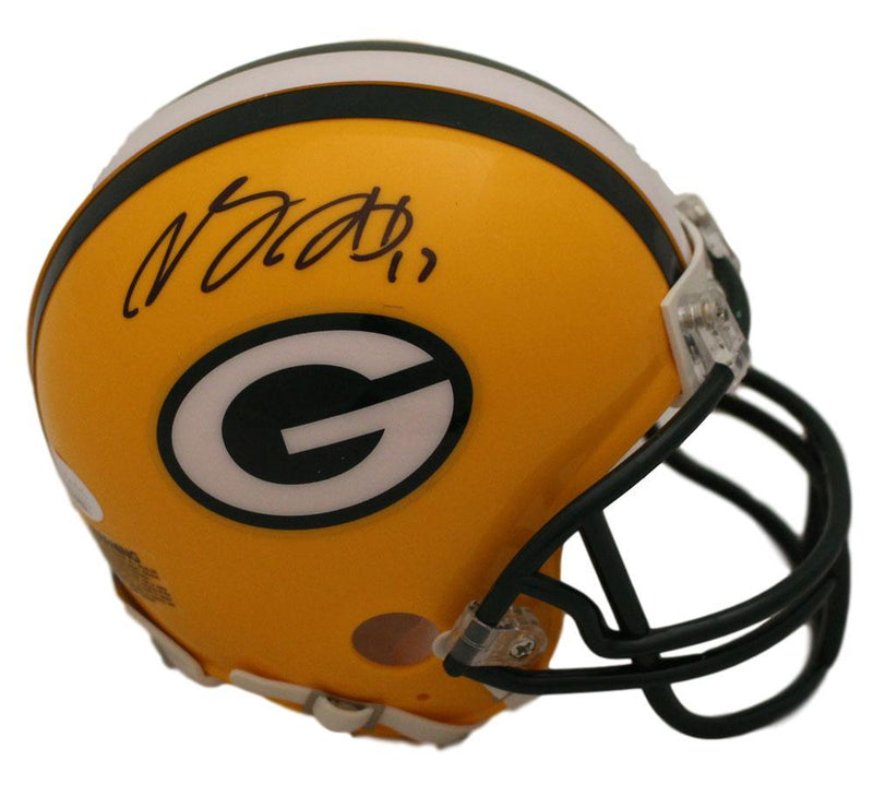 Davante Adams Autographed Green Bay Packers Mini Helmet JSA  PSM-Powers Sports Memorabilia