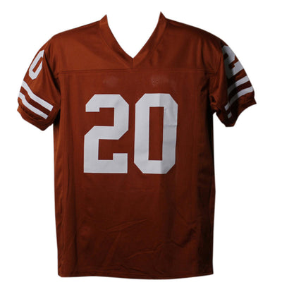 Earl Campbell Autographed Texas Longhorns size XL Jersey w/HT 77 PSM-Powers Sports Memorabilia