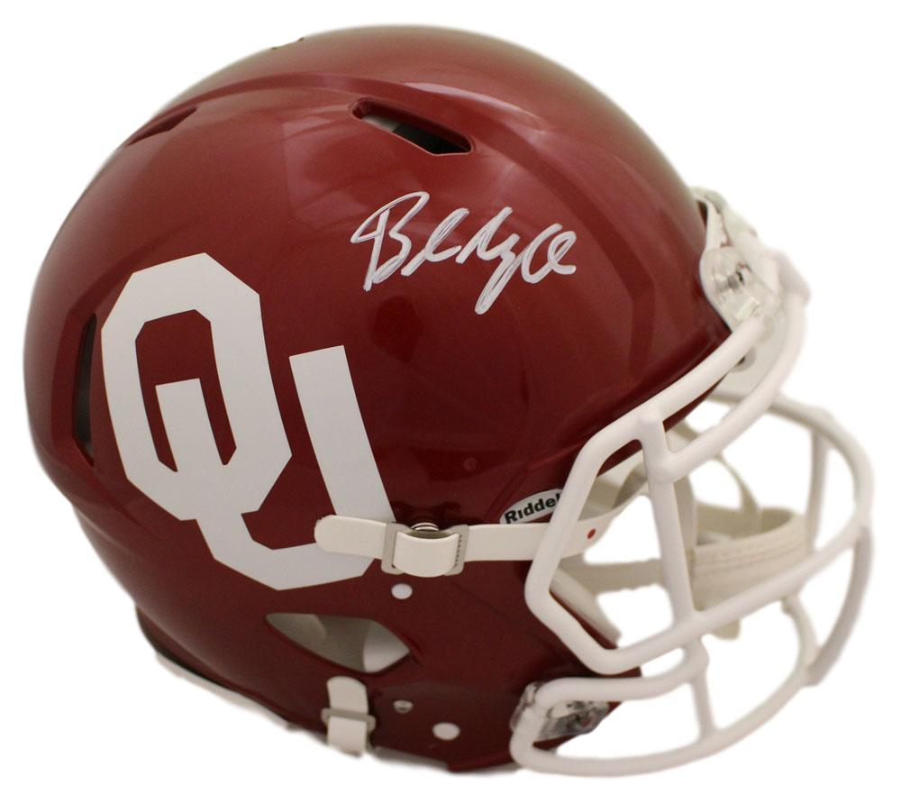 6673af08f Baker Mayfield Autographed Oklahoma Sooners Authentic Speed Helmet BAS PSM